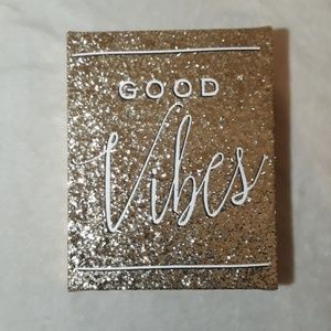 Gold sequin Bebe canvas wall art picture